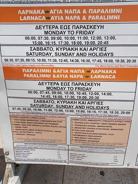 Intercity-Ayia-Napa-Timetable