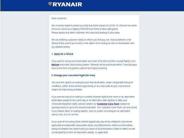 Ryanair-Cancellation