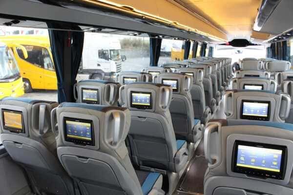 автобус Regiojet салон внутри