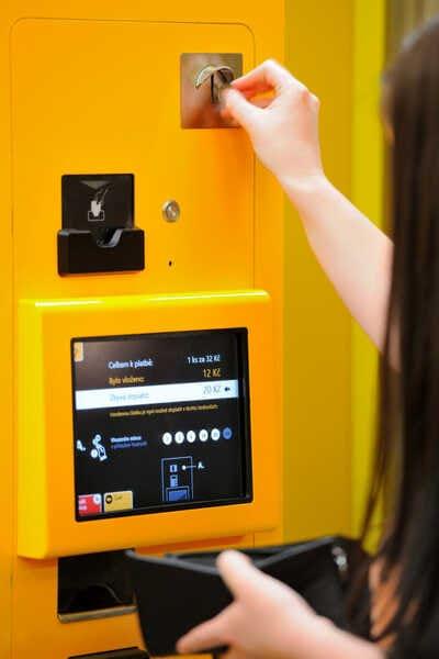 Автомат для покупки билетов в Праге