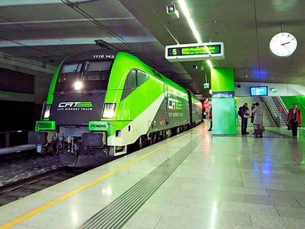 скоростной поезд из аэропорта Вены