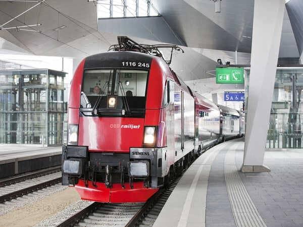 поезд из аэропорта Вены