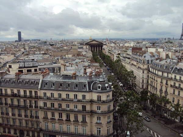 Панорама Парижа Printemps Haussmann